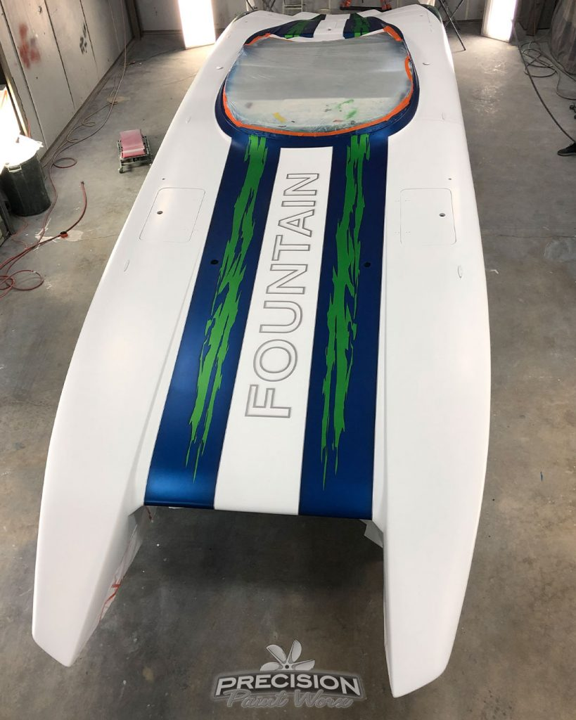 The 32 Fountain Cat | Painted by: Precision Paint Worx